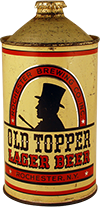 old topper lager beer