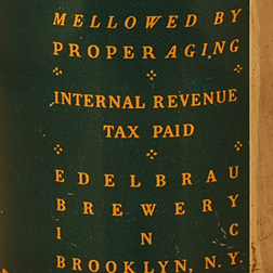 Edel Brau Ale Tax Statement
