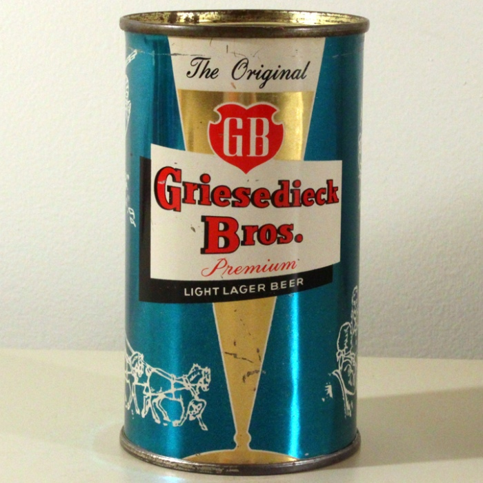 Griesedieck Bros. GB Finest Quality Light Lager Light Blue Set Can 076-15 Beer