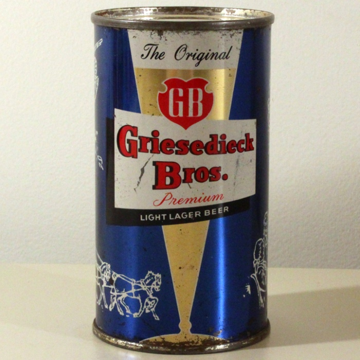 Griesedieck Bros. GB Finest Quality Light Lager Dark Blue Set Can 076-16 Beer