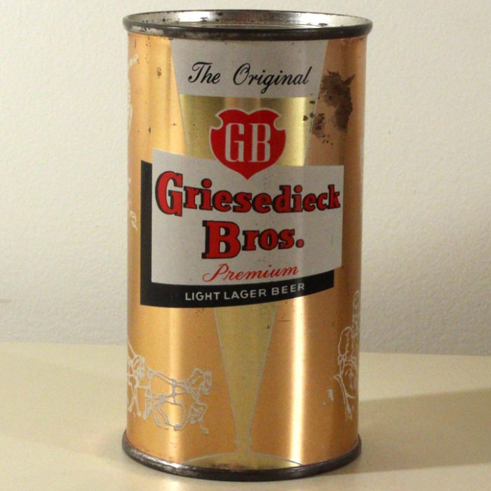 Griesedieck Bros. GB Finest Quality Light Lager Peach Set Can 076-17 Beer