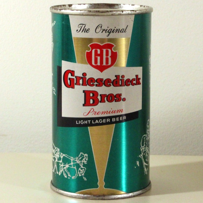 Griesedieck Bros. GB Finest Quality Light Lager Beer Aqua Set Can 076-18 Beer