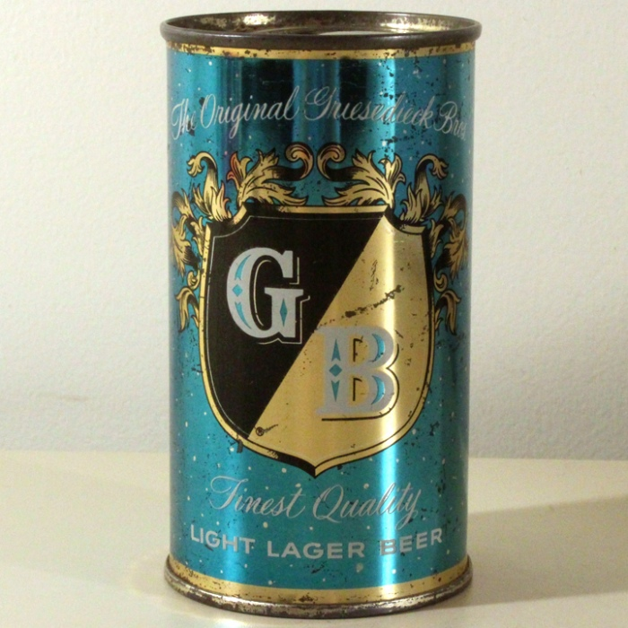 Griesedieck Bros. GB Finest Quality Light Lager Light Blue Set Can 077-02 Beer