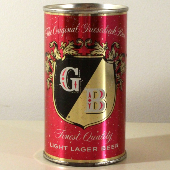 Griesedieck Bros. GB Finest Quality Light Lager Beer Red Set Can 077-10 Beer