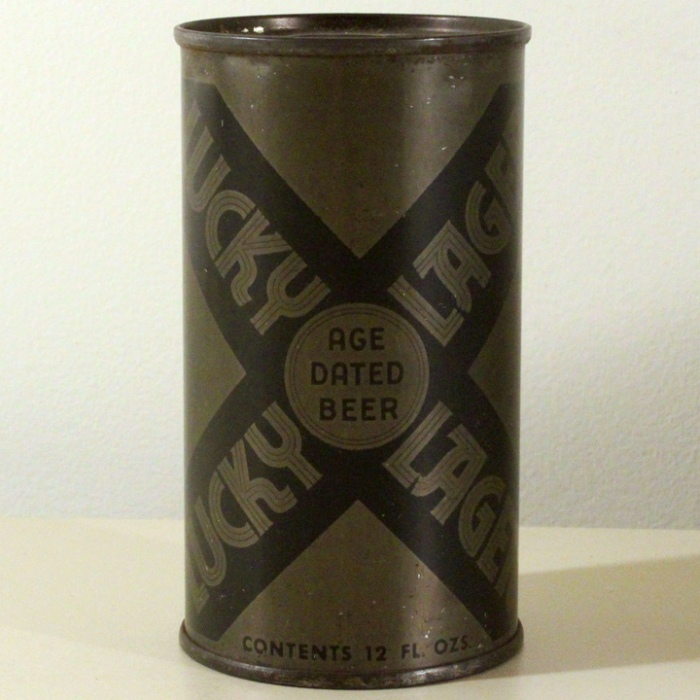 Lucky Lager Age Dated Beer (Olive Drab) 093-13 Beer