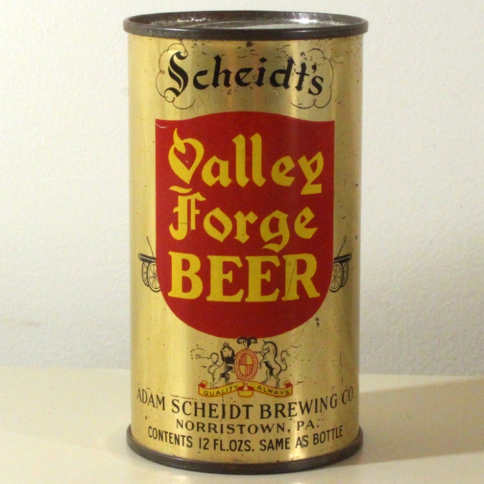 Scheidt's Valley Forge Beer 832 Beer