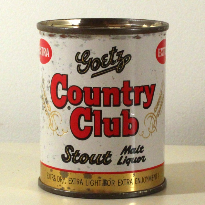 Goetz Country Club Stout Malt Liquor 240-28 Beer