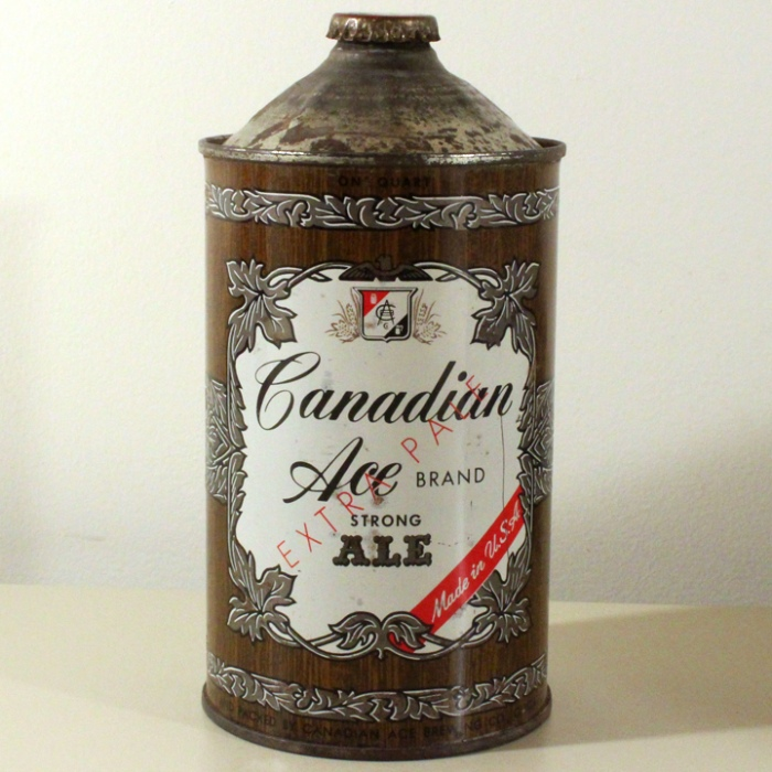 "Canadian Ace Brand Extra Pale Ale (""Strong"") NL Beer"