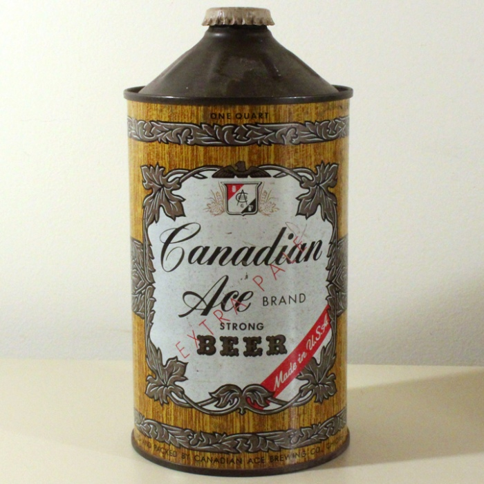 "Canadian Ace Brand Extra Pale Beer (""Strong"") 205-06 Beer"
