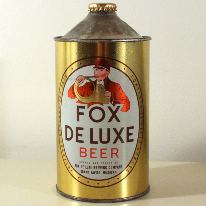 Fox De Luxe Beer (Michigan) 209-16 Beer
