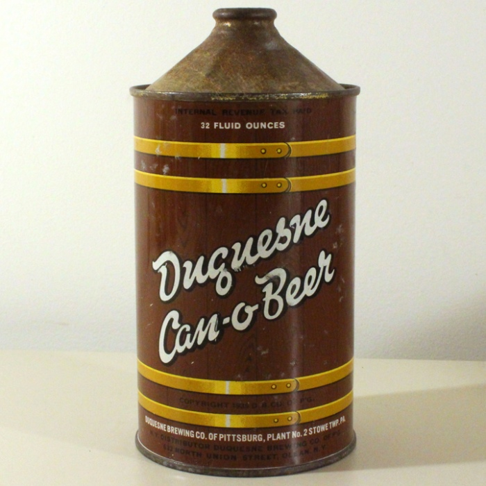 Duquesne Can-o-Beer 207-01 Beer
