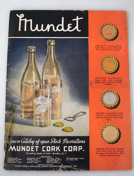 1934 Mundet Bottle Cap Catalog Beer