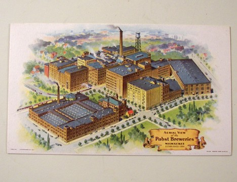 1941 Pabst Factory Scene Post Care Beer