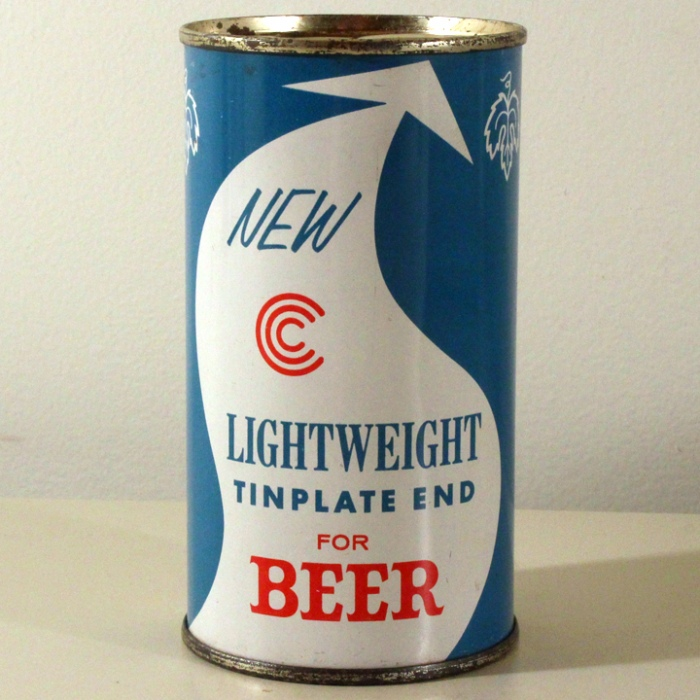 "Continental Can Co. ""Lightweight Tinplate End for Beer"" NL Beer"