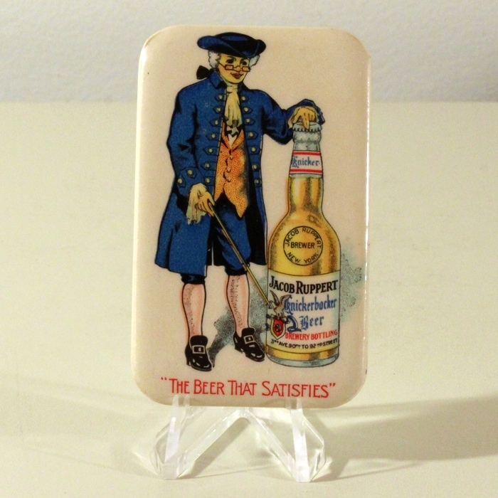 Jacob Ruppert Knickerbocker Beer Celluloid Pocket Mirror Beer