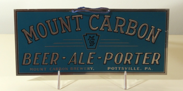 Mount Carbon Beer - Ale - Porter Leyse Sign Beer