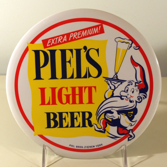 Piel's Light Beer Button Sign Beer