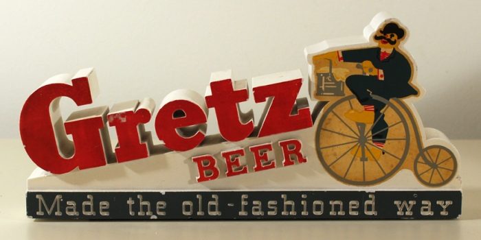 Gretz Beer Chalk Shelf Sign Beer