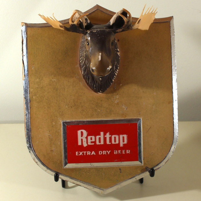 Redtop Extra Dry Beer Mounted Moose Sign Beer