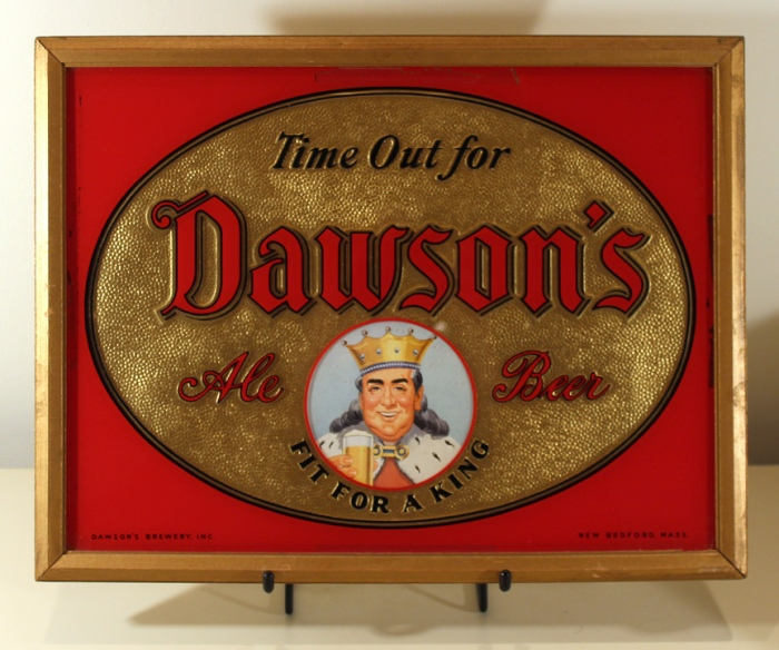 Dawson's Ale - Beer Reverse Painted Glass Sign Beer