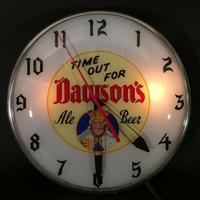 Dawson's King Diamonds Clock Beer