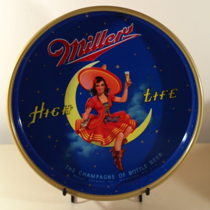Miller High Life Girl On The Moon Beer