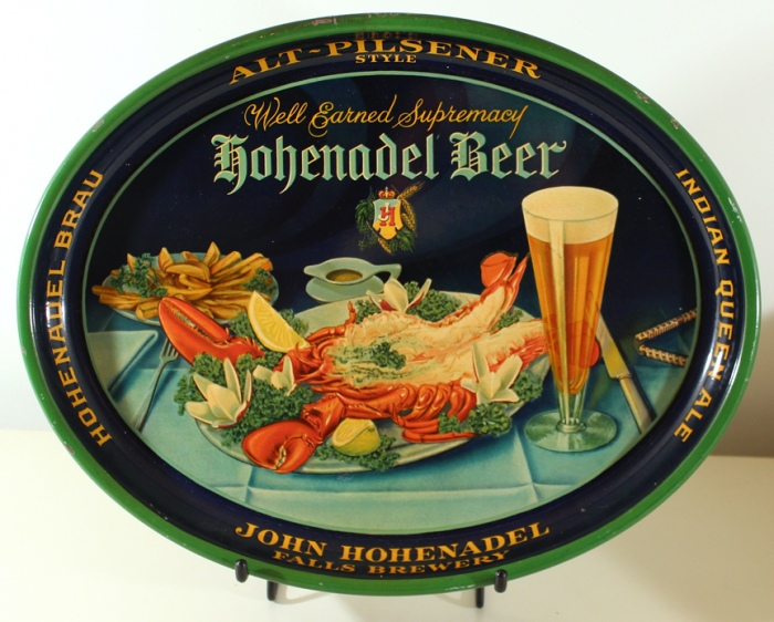 Hohenadel Beer Oval Lobster Scene Beer