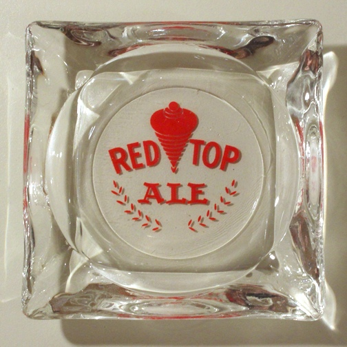Red Top Ale Glass Ashtray Beer