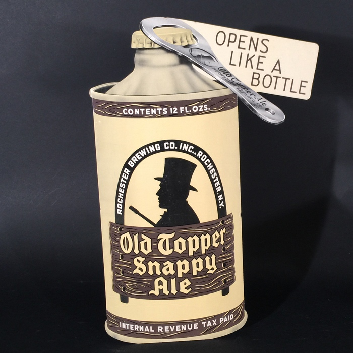 Old Topper Snappy Ale Diecut Beer