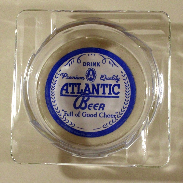 Atlantic Beer ACL Glass Ashtray Beer