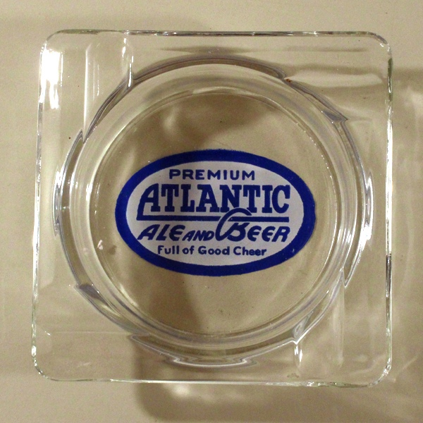 Atlantic Ale And Beer ACL Glass Ashtray Beer