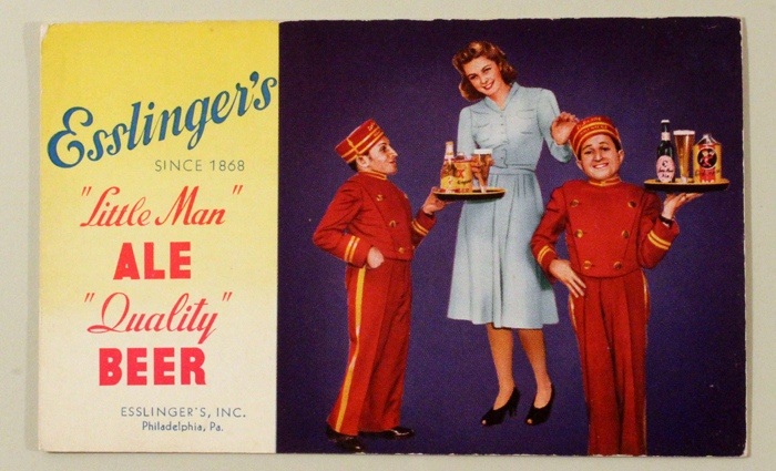 Esslinger's Little Man Ale Postcard Beer