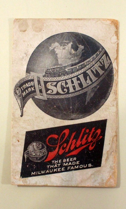 Schlitz Globe Card Beer
