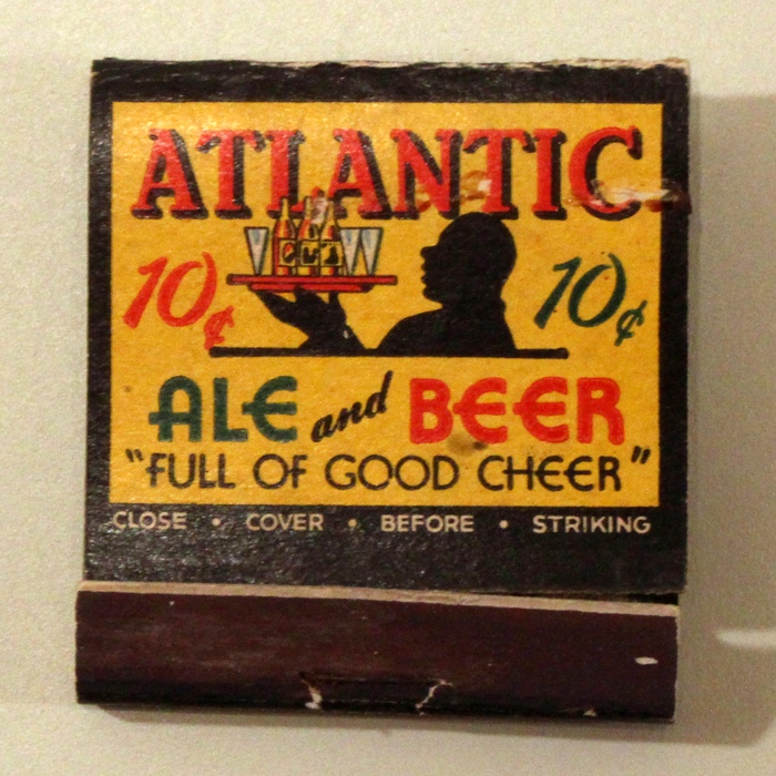 Atlantic Ale And Beer 10 cents Match Cover Beer