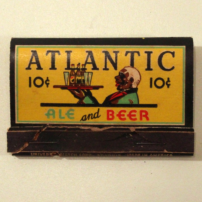 Atlantic Ale And Beer 10 cents Wide Match Cover Beer