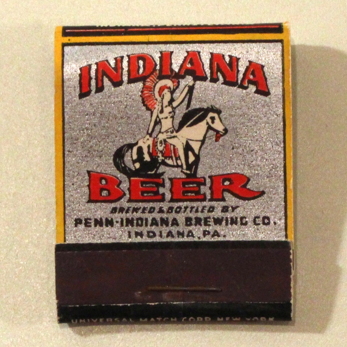 Indiana Beer Match Cover Beer