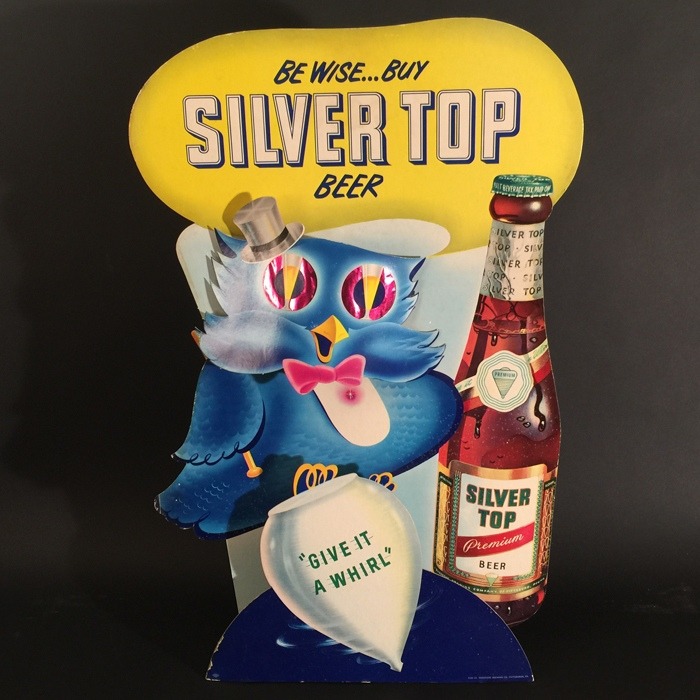 Silver Top Be Wise Owl Bottle Diecut 3D Beer