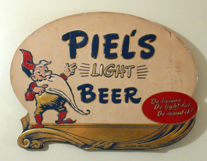 Piel's Light Beer Composite Sign Beer