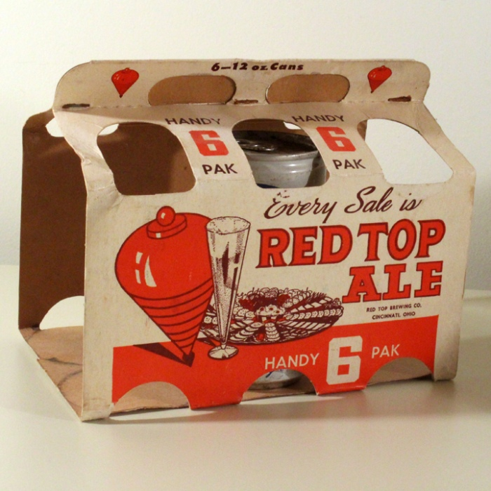 Red Top Ale 6 Pack Holder Beer