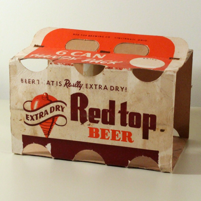 Red Top Beer 6 Pack Holder Beer