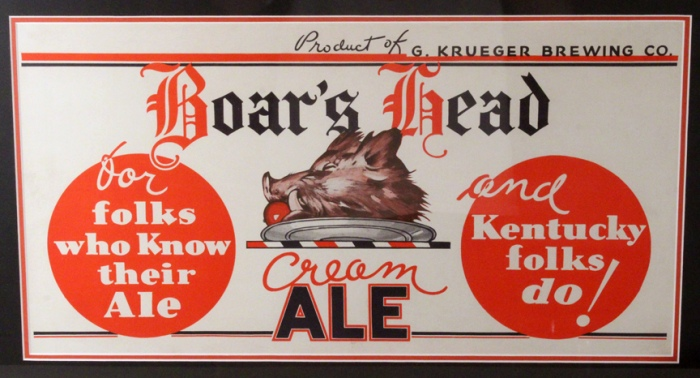 Boar's Head Cream Ale Framed Paper Sign Beer