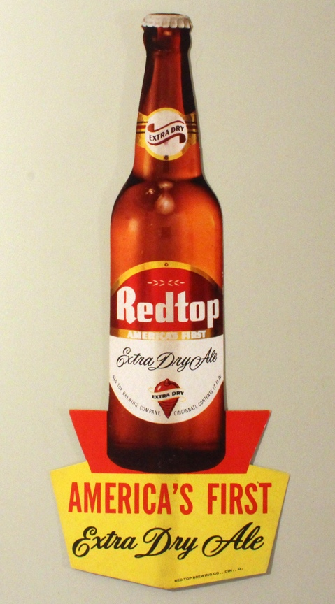 Redtop Extra Dry Ale Thin Cardboard Die-Cut Sign Beer