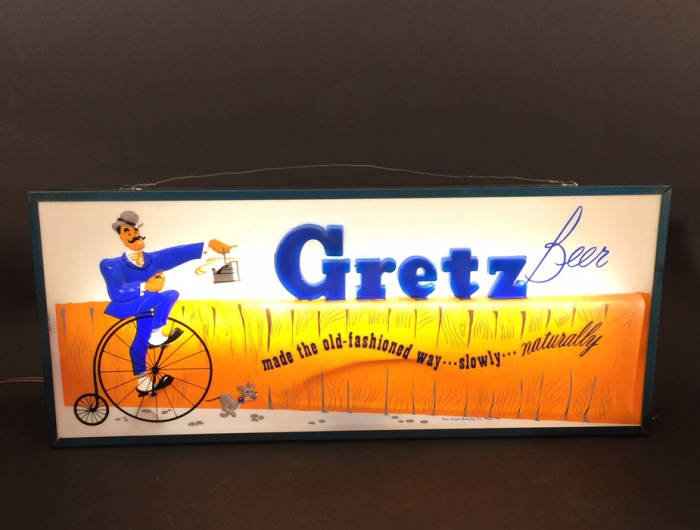Gretz Penny-Farthing Lighted Sign Beer