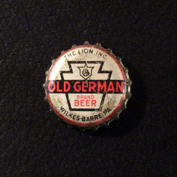 Old German Brand Beer Silver Background Beer