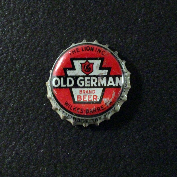 Old German Brand Beer Red Background Beer