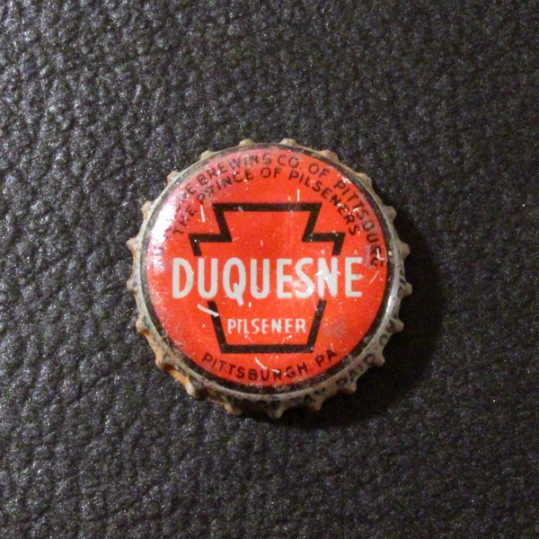 Duquesne Pilsener Gray Letters PA Tax Beer