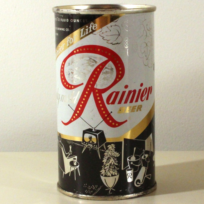 Rainier Beer Jubilee Black TV L118-30 Beer