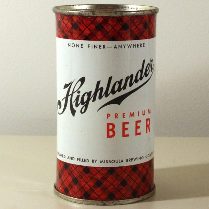 Highlander Premium Beer Dull Red 082-13 Beer