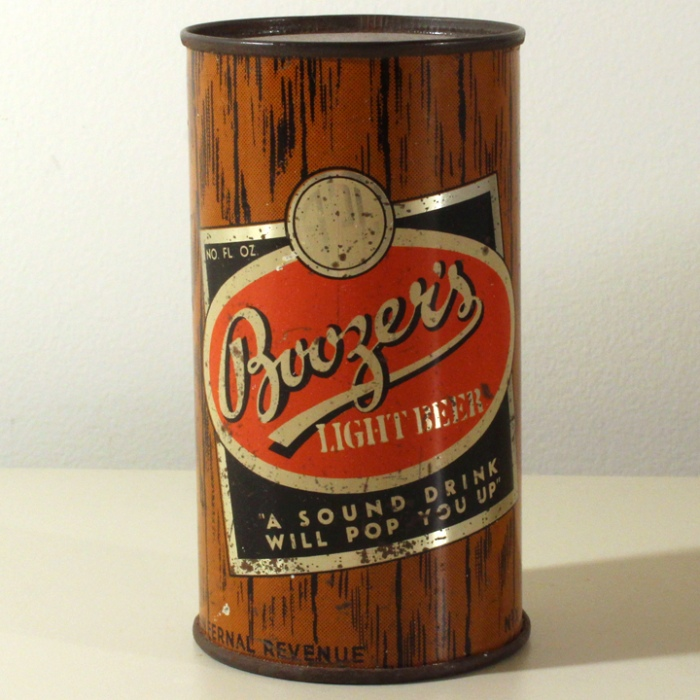 Boozer's Light Beer Novelty Can Beer