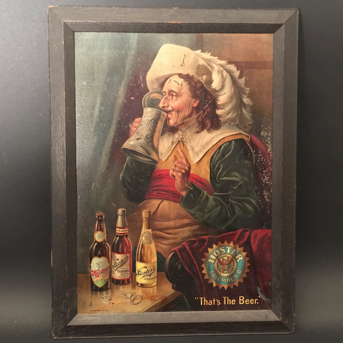 Hoster Tin Lithograph Beer